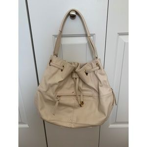 Cream Forever 21 bucket purse